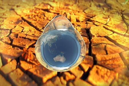 parched: 3d render water conservation environmental conceptual image Stock Photo