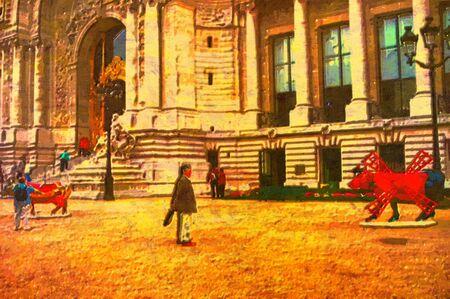 petite: original oil painting of the petite palace paris
