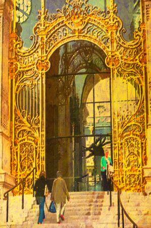 original oil painting of the petite palace paris photo