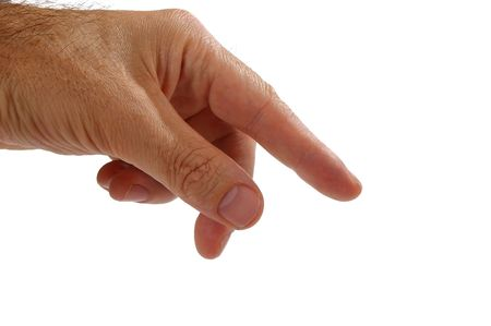 Isolated over white human male  hand concept Stock Photo - 7103049