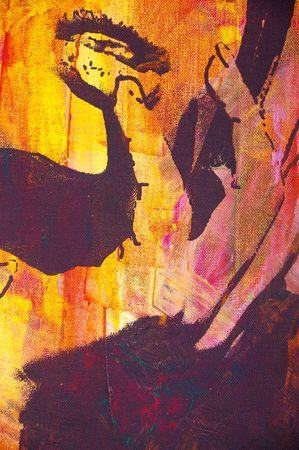 ilustración original pintura al óleo sobre lienzo estirada  Foto de archivo - 7181729