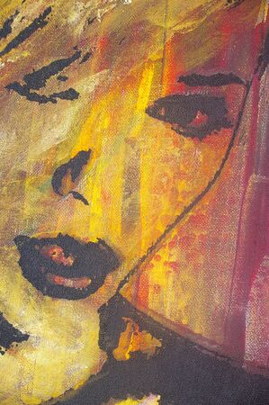 lascivious: original artwork oil painting on stretched canvas Stock Photo