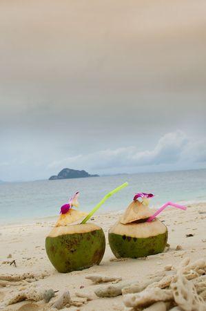 pina colada on thailand beach phi phi photo