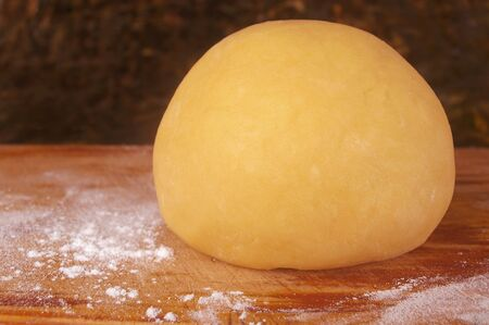 short crust pastry dough ball at resting stage photo