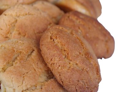 Peanut butter and ginger cookies isolated over white Stock Photo - 7405097