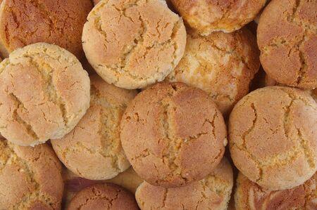 galletas de jengibre: Grupo de fondo de las cookies de mantequilla de man� y jengibre