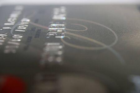 credit card macro extreme close up abstract photo