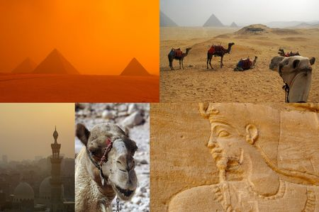 tear sheet compilation of egypt tour sights Stock Photo - 7549185