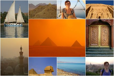 compilation: tear sheet compilation of egypt and tourists at sites
