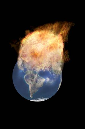 earth explosion environmental collision  multi concept image Stock Photo - 7855775