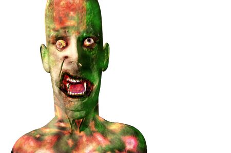 halloween zombie death and skin care 3d concept render Stock Photo - 7862727