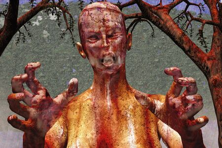 halloween zombie death ghoul 3d concept render Stock Photo - 7862733