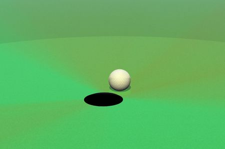 hole in one 3d golf concept render photo