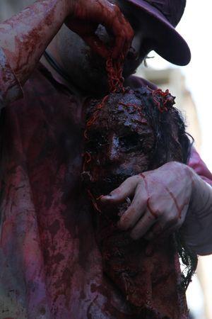 demoniacal: BRISBANE, AUSTRALIA - OCT 24 : Annual brain foundation zombie walk October 24, 2010 in Brisbane, Australia