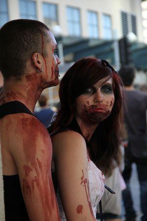 BRISBANE, AUSTRALIA - OCT 24 : Annual brain foundation zombie walk October 24, 2010 in Brisbane, Australia Stock Photo - 8149758