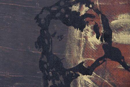 original oil painting on textured cotton canvas  photo