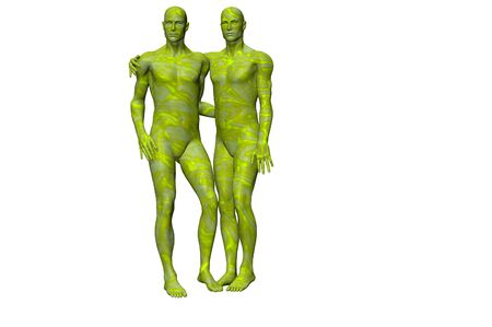 gay males body paint dance party concept render photo