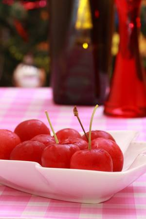 fare: cherry stone fruit traditional christmas fare australia Stock Photo