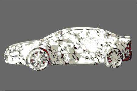 Psychedelic urban camouflage car vector lifestyle sports sedan concept Stock Vector - 8406311