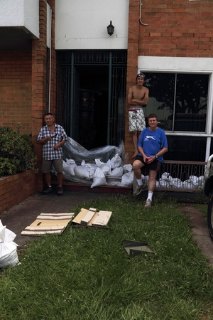 BRISBANE, AUSTRALIA - JAN 12 : Flood  Brisbane  Queensland declared natural disater January 12, 2011 in Brisbane, Australia