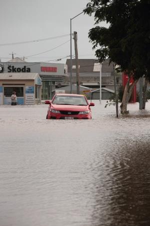 declared: BRISBANE, AUSTRALIA - JAN 12 : Flood  Brisbane  Queensland declared natural disater January 12, 2011 in Brisbane, Australia