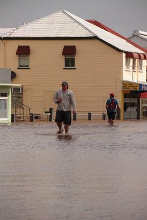 BRISBANE, AUSTRALIA - JAN 12 : Flood  Brisbane  Queensland declared natural disater January 12, 2011 in Brisbane, Australia  Stock Photo - 8587766