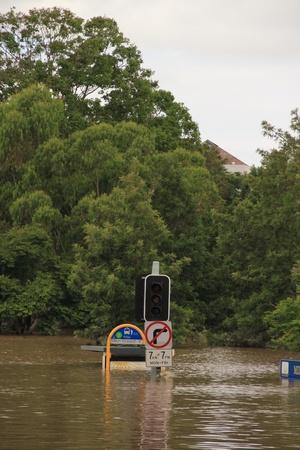 BRISBANE, AUSTRALIA - JAN 13 : Flood  Brisbane City  area Queensland declared natural disater January 13, 2011 in Brisbane, Australia  Stock Photo - 8608261