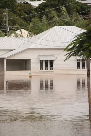 BRISBANE, AUSTRALIA - JAN 13 : Flood  Brisbane  milton area Queensland declared natural disater January 13, 2011 in Brisbane, Australia