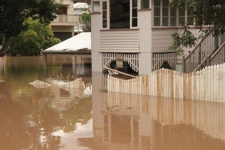BRISBANE, AUSTRALIA - JAN 13 : Flood  Brisbane  auchenflower area Queensland declared natural disater January 13, 2011 in Brisbane, Australia