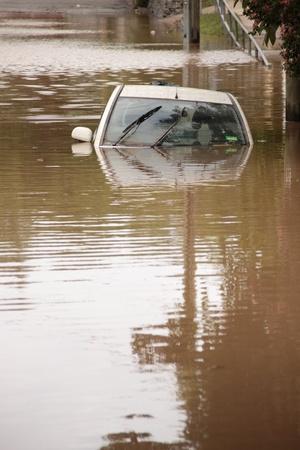 BRISBANE, AUSTRALIA - JAN 13 : Flood  Brisbane  auchenflower area Queensland declared natural disater January 13, 2011 in Brisbane, Australia  Editorial