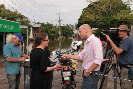 BRISBANE, AUSTRALIA - JAN 13 : Flood  Brisbane rosalie area Queensland declared natural disater January 13, 2011 in Brisbane, Australia