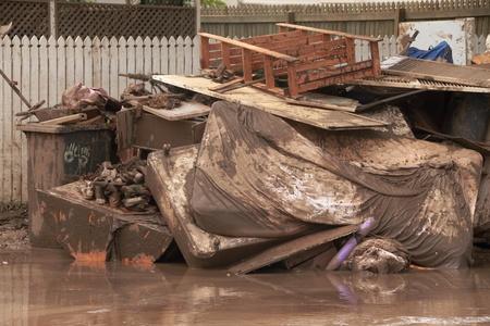 belongings: BRISBANE, AUSTRALIA - JAN 14 : Flood  Brisbane Fairfield area belongings thrown out January 14, 2011 in Brisbane, Australia  Editorial