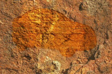 stoneage: concept render of car cave painting or carving, technology  idea ect