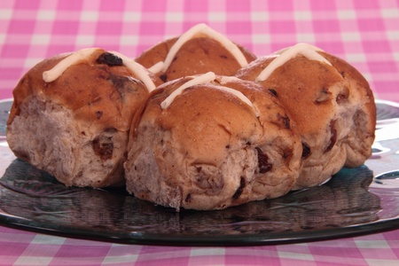 hot cross buns traditional easter fresh food  photo