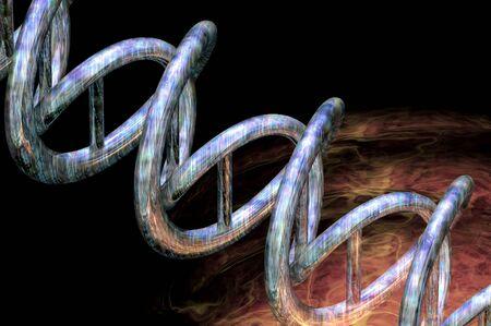 big bang: dna origin of life big bang explosion energy concept render background