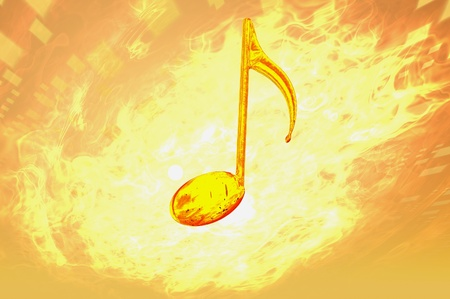 music note firey concept abstract render image photo
