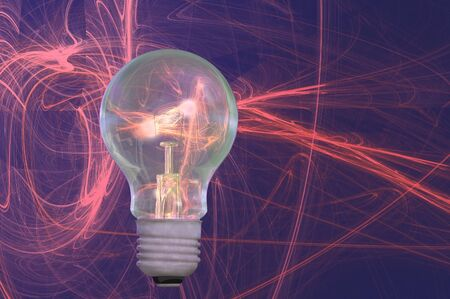 light bulb high energy abstract background render photo