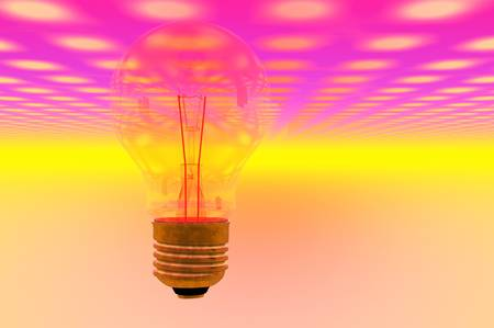 tungsten: light bulb tungsten disco lights night life club concept render Stock Photo