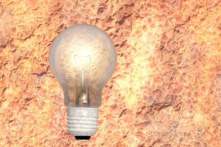 outdated: antiquated outdated obsolete tungsten light bulb concept render