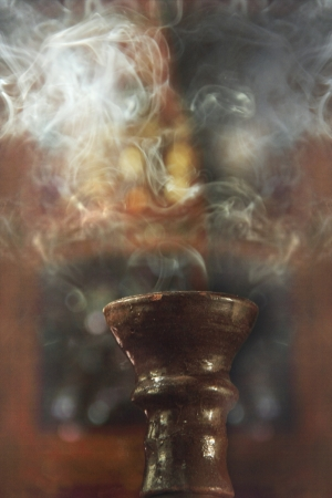 closed up of sheesha hookah pipe being used Stock Photo - 11581527