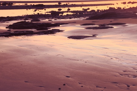sandgate beach brisbane australia hdr sunrise background image photo