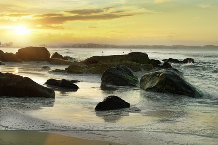 hdr image of coolangatta gold coast queensland australia photo