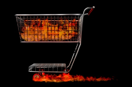 trolley render fire sale liquidation hot bargins Stock Photo - 12996340