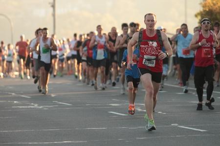 BRISBANE, AUSTRALIA - SEPTEMBER 02 : Unidentified runners  participating in the Bridge to Brisbane charity fun run on September 02, 2012 in Brisbane, Australia Stock Photo - 15269683