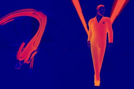 3d render  young modern business man concept false colour image  Stock Photo