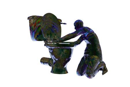 3d render vomit sick party business man image Stock Photo - 18462115