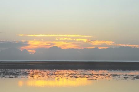 mud ripple typical of only sandgate brisbane beach copy space background australia photo