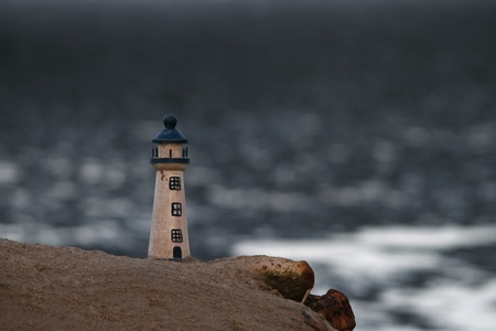 toy lighthouse on cliff sandgate brisbane queensland australia photo