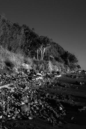 An unique Australian landscape featuring a unusual marine park rock landscape on the east coast bush fringe. with extreme depth of feild photo