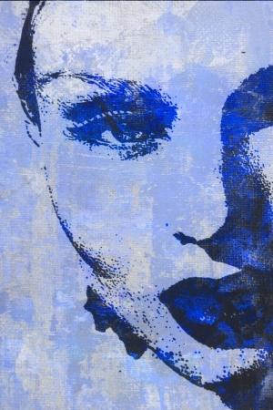 caritas pintadas: pintura al ?leo original de la mujer en el ideal de la lona para el giclee Foto de archivo